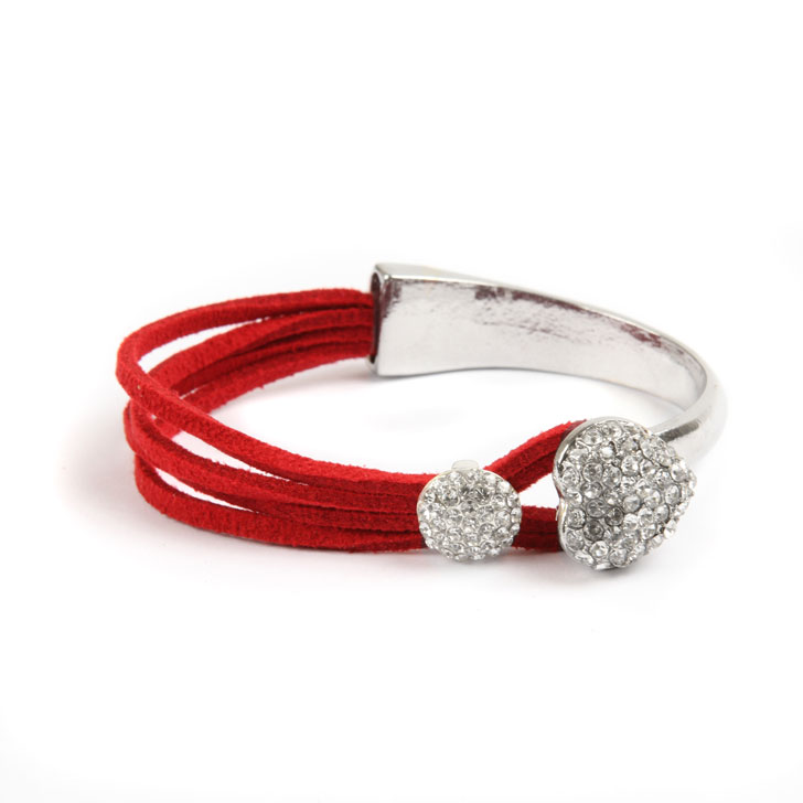 Red Heart Bar Bracelet
