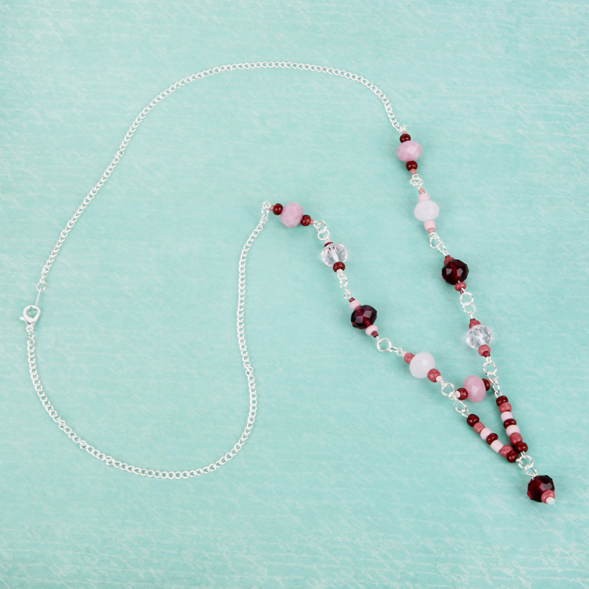 'Rose Drops Necklace'   National Beading Week Challenge