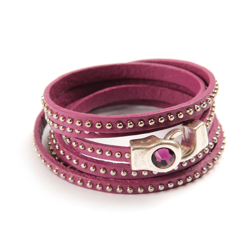 Temptation Purple Stud Bracelet