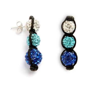 Deep Blue Sea Shamballa fashion Earrings