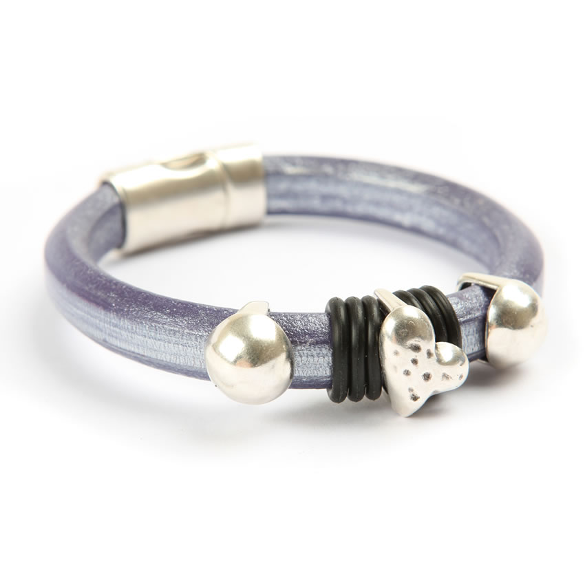 Metallic Purple Regaliz Bracelet