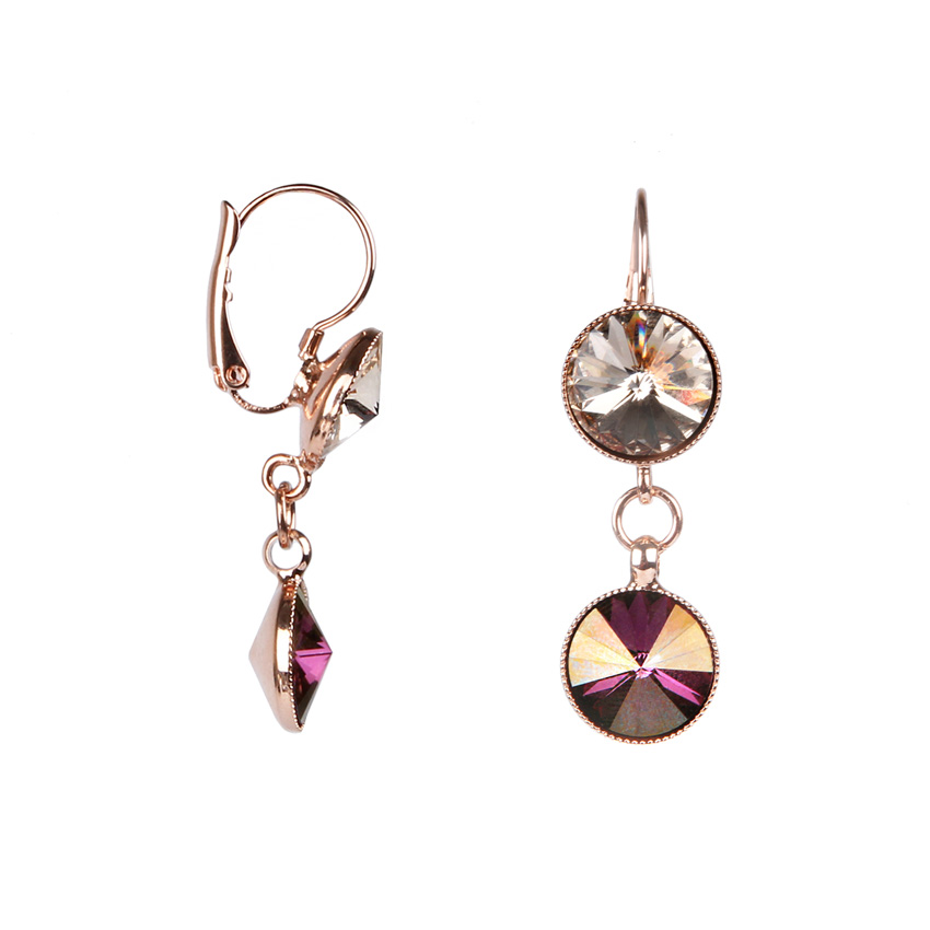 Swarovski 'Lilac Shadow' Crystal Earrings
