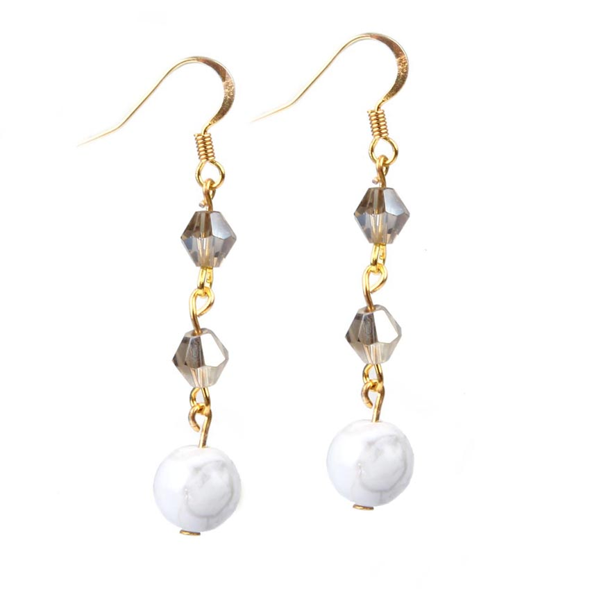 'Snowball' Sparkle Earrings