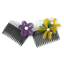 French Beaded Hair Combs