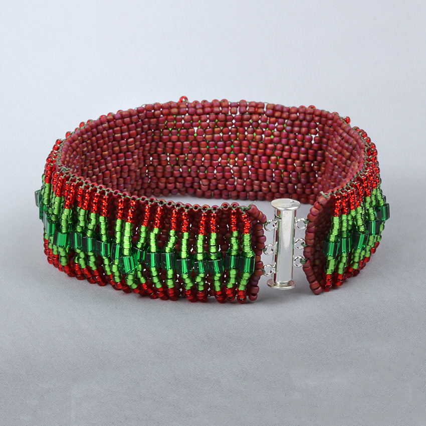 Christmas Peyote Loops Bracelet