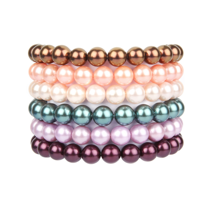 Simple Shell Pearl Bracelets