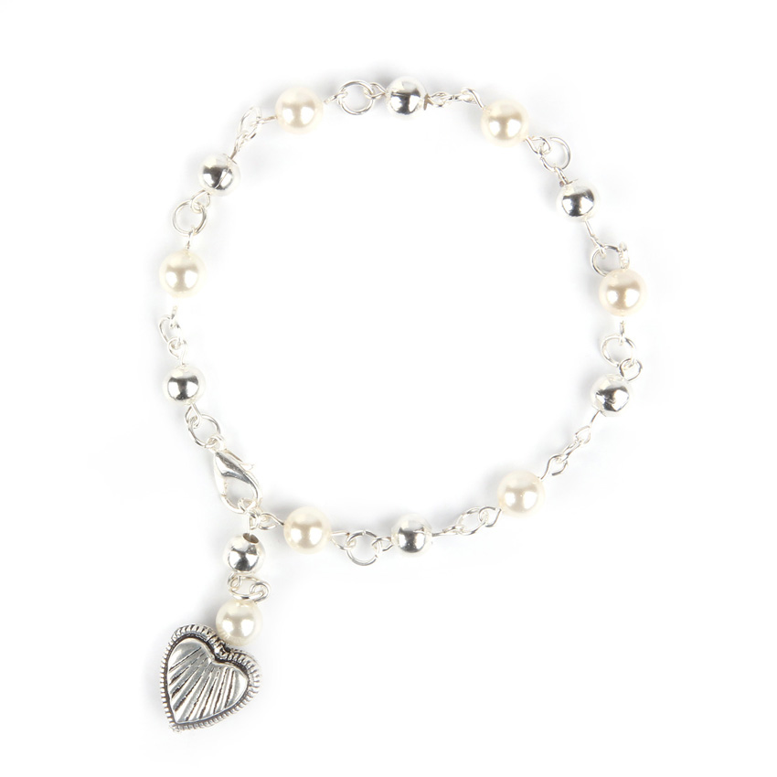 Heart and Pearl - Bracelet