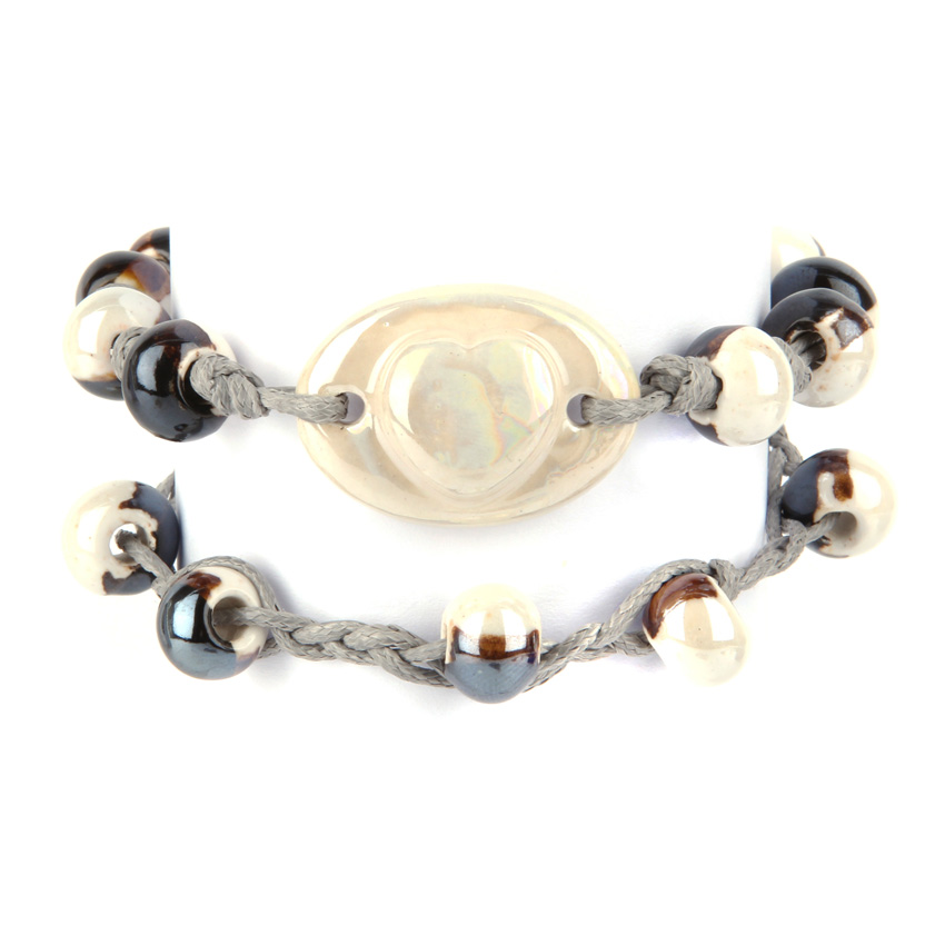 Cream Seashore Ceramic Bracelets