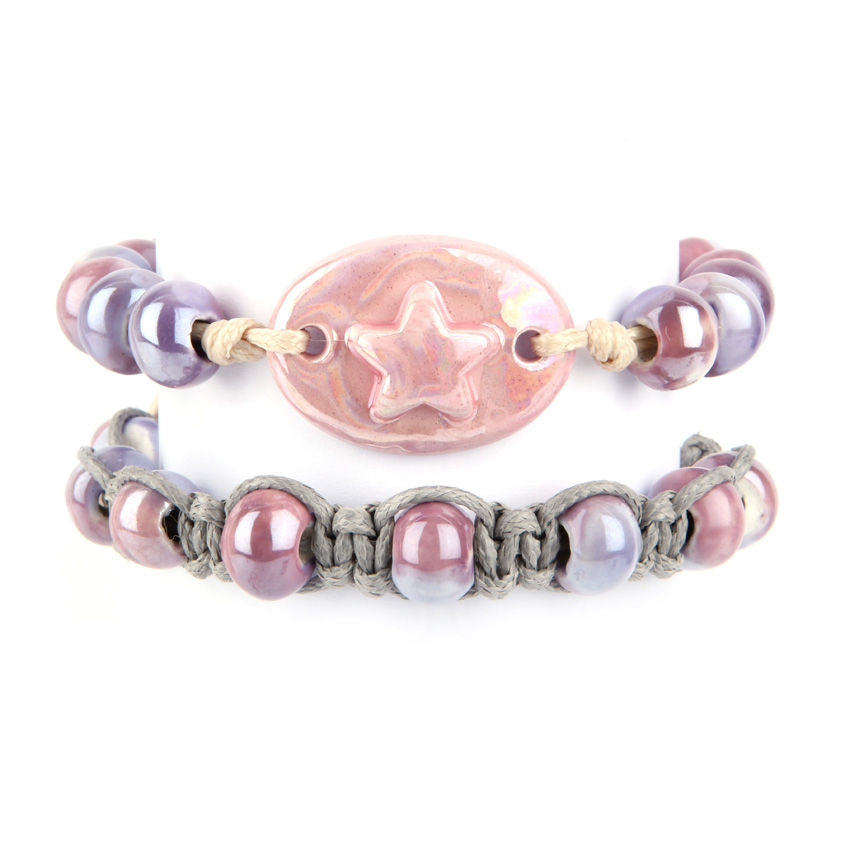Pastel Purple Ceramic Bracelets