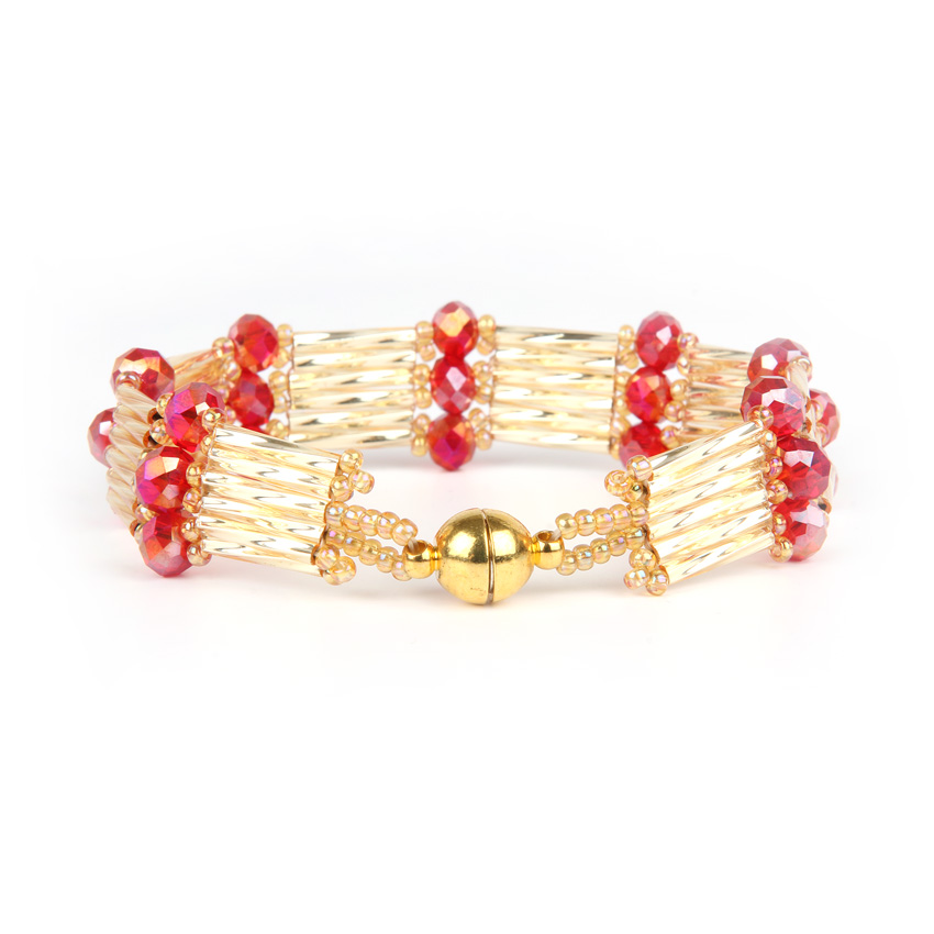 Regal Red Crystal Step Bracelet