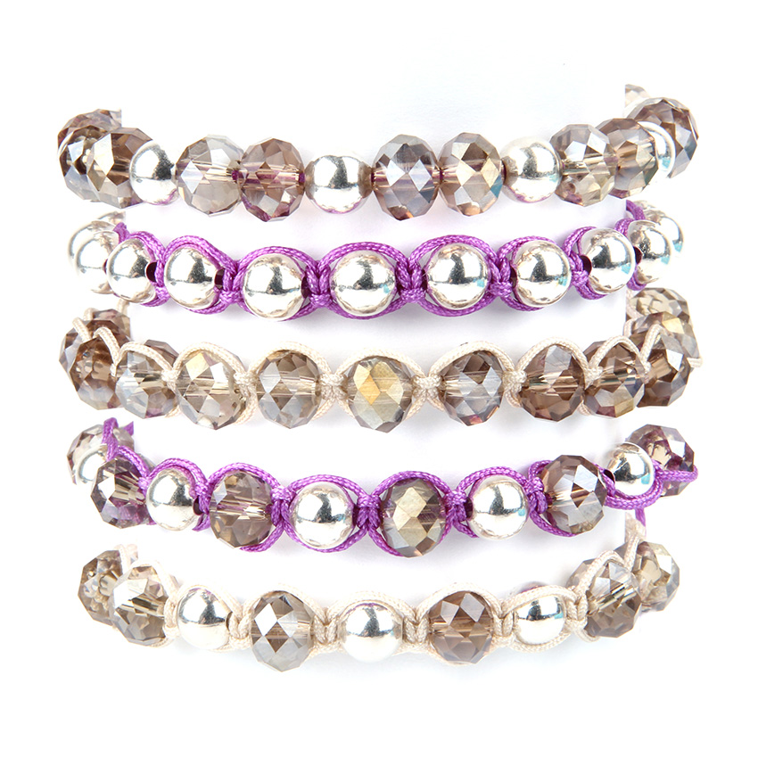 Berry Crystal Bracelet Stack