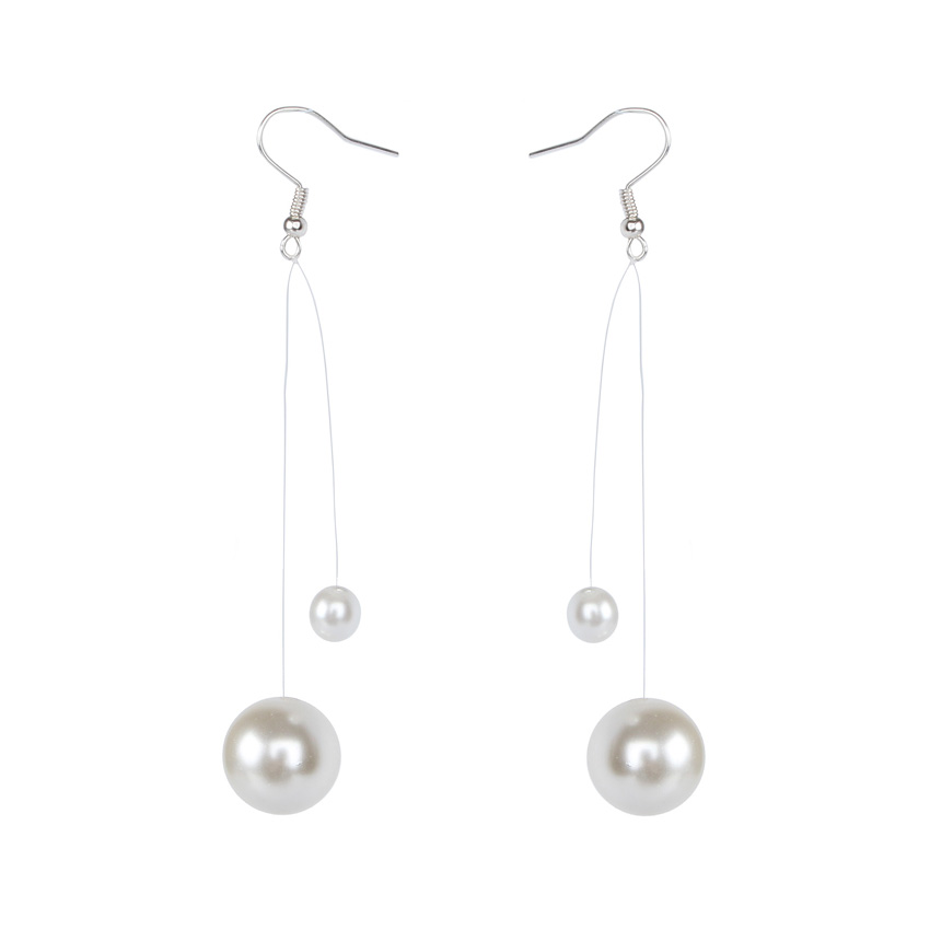 Floating Pearl Earrings