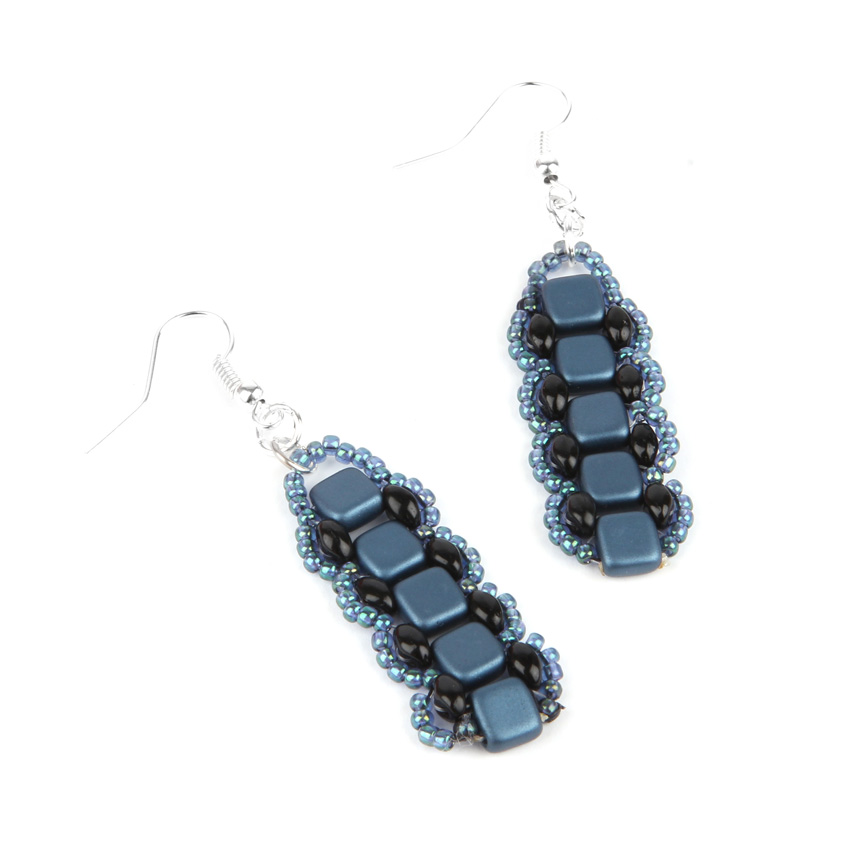 Navy Tila Bliss Earrings