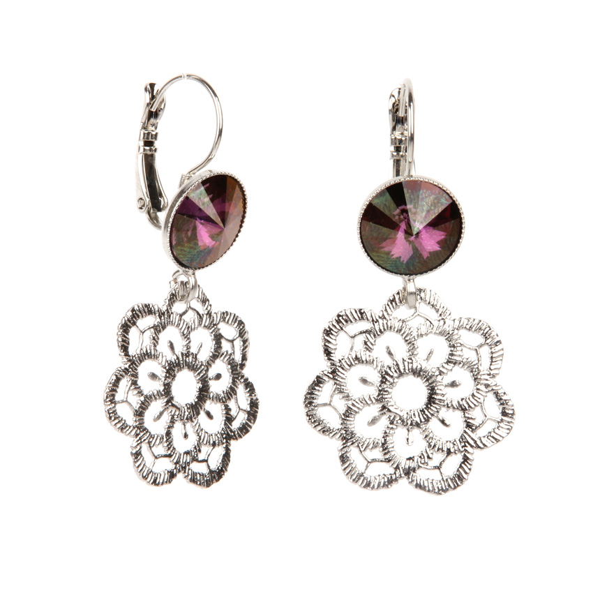 Lilac Shadow Floral Earrings