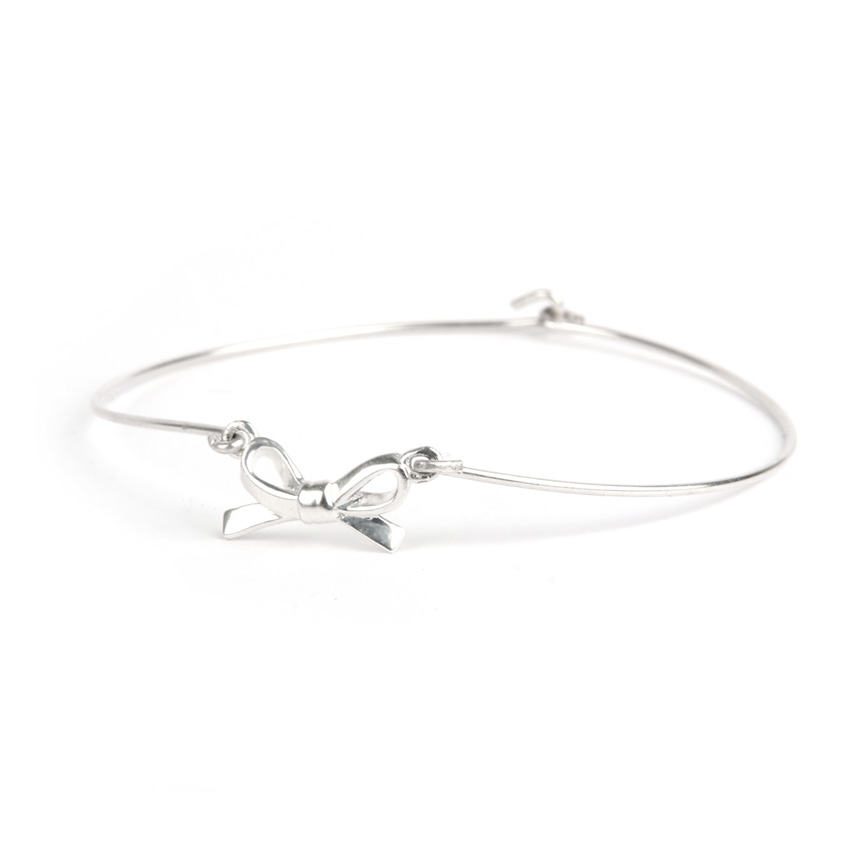 Sterling Silver Bow Bangle