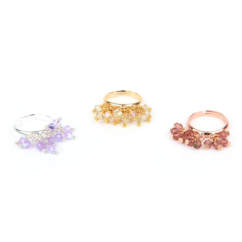 Goddess Bicone Cluster Ring Set
