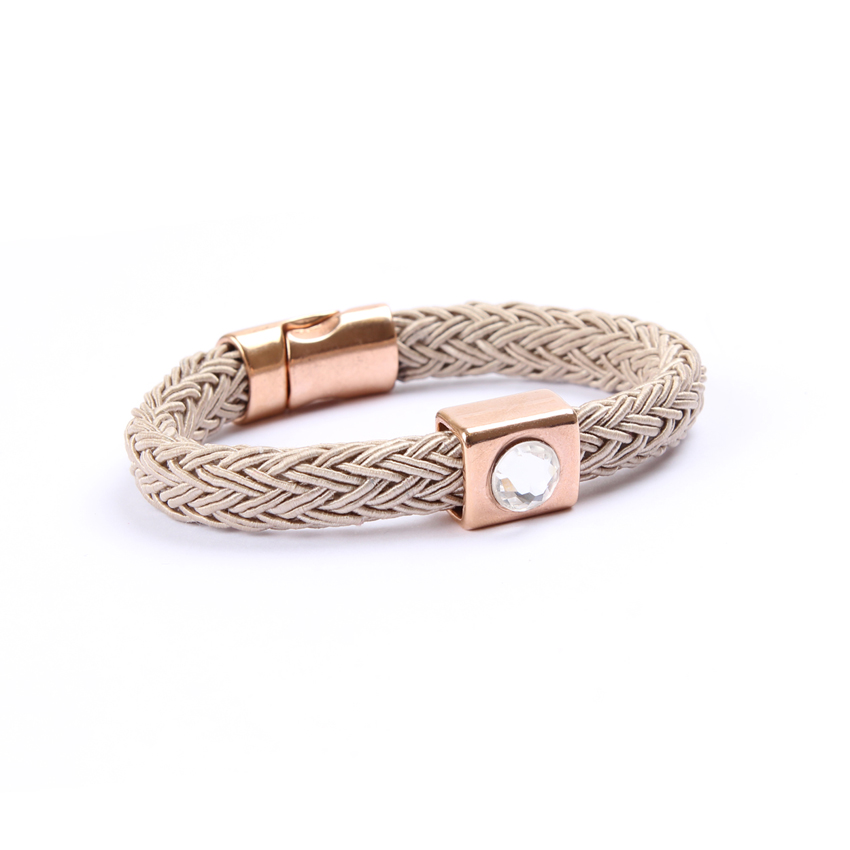 Beige 'Melody Braid' Bracelet