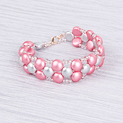Frosted Pink Candy Bracelet