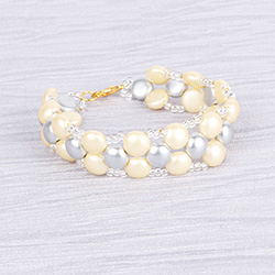 Frosted Cream Candy Bracelet
