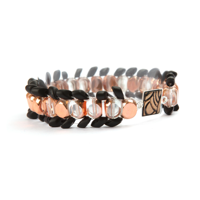 Black and Copper 'Psychedelia' Bracelet