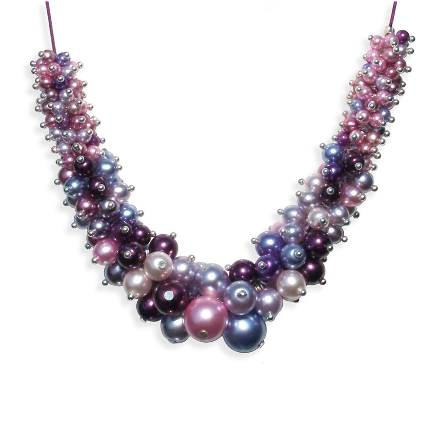 Lilac Bubble Pearl Necklace