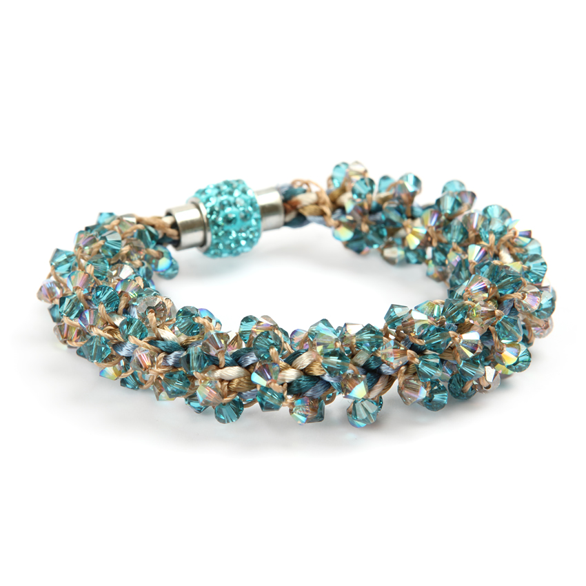 Summer Braiding Blue Sand Bracelet
