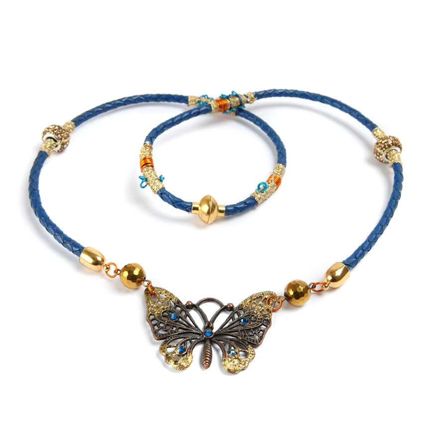 True Blue Butterfly Necklace