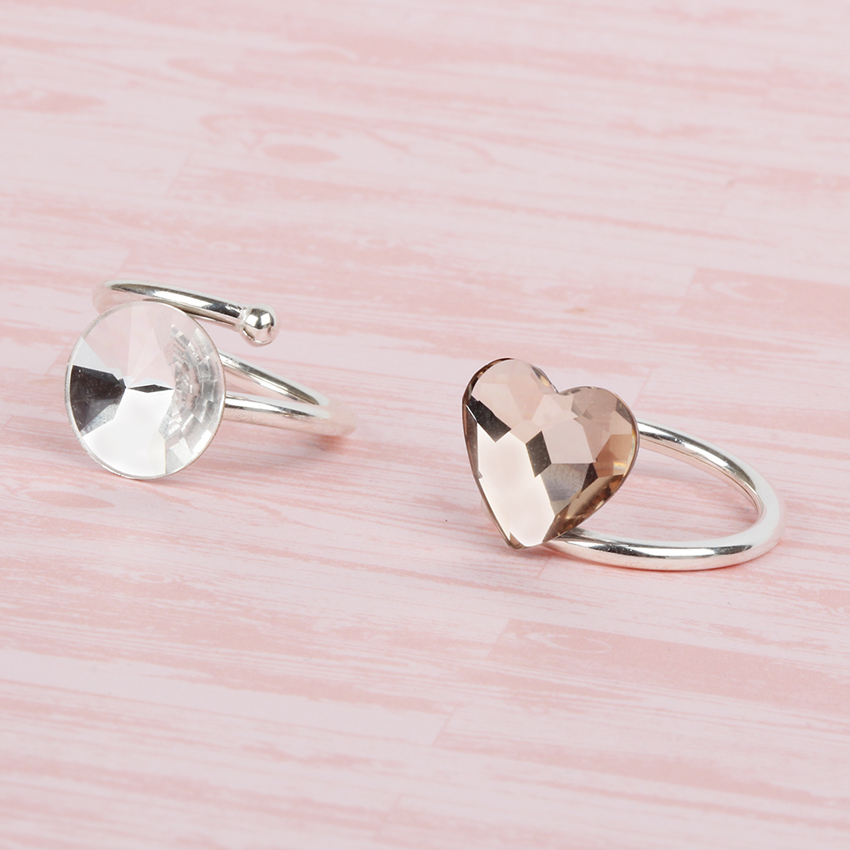 'Heart & Moon' Swarovski Rings | SALE MAKE