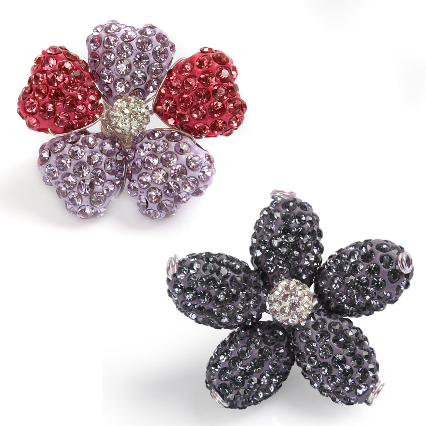 Floral Fusion Shamballa Fashion Flowers
