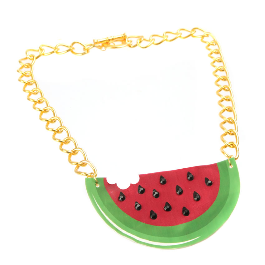 Statement Watermelon Necklace