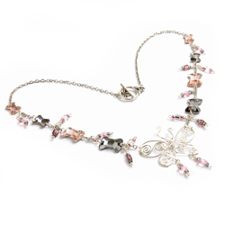 'Butterflies and Bows' Necklace