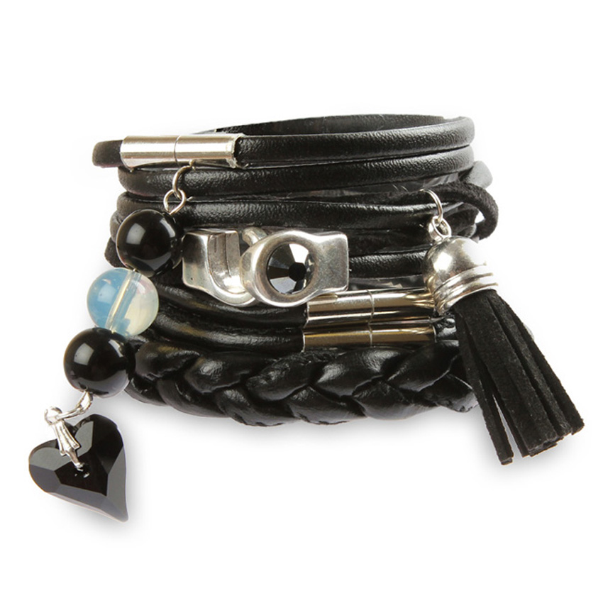 'Back in Black' bracelet stack