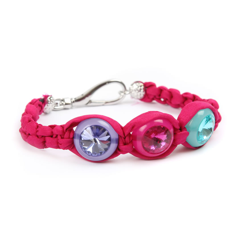 Crystal Orb Hot Pink Bracelet