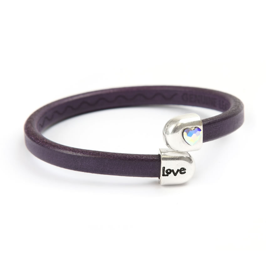 Purple Love Crystal Bracelet