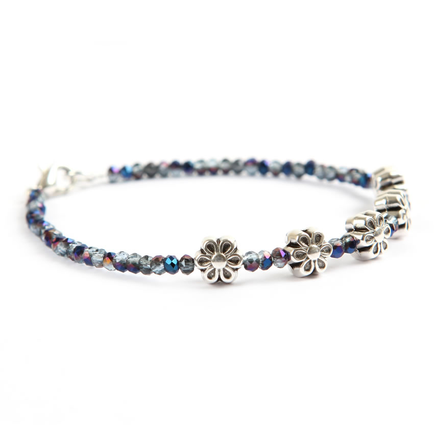 Blue Flower 'Pixie' Bracelet