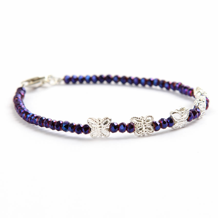 Purple Butterfly 'Pixie' Bracelet