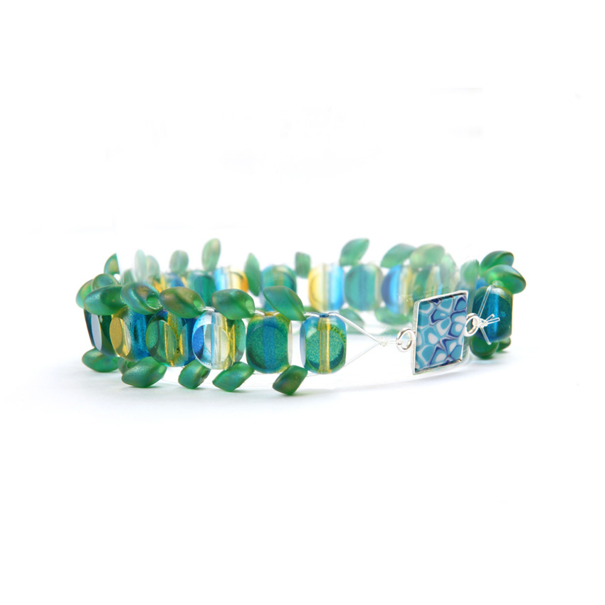 Blue and Green 'Psychedelia' Bracelet