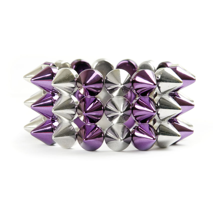 Purple Mist Spike Stretch Bracelet