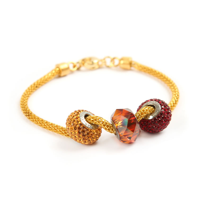Swarovski Gold Becharmed Bracelet