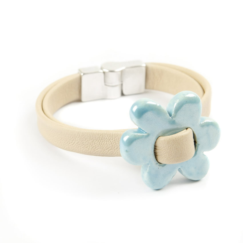 Candy Flower Ceramic Bracelet