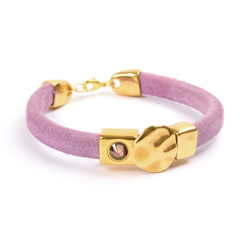 Lilac Suede Regaliz Bracelet - New In
