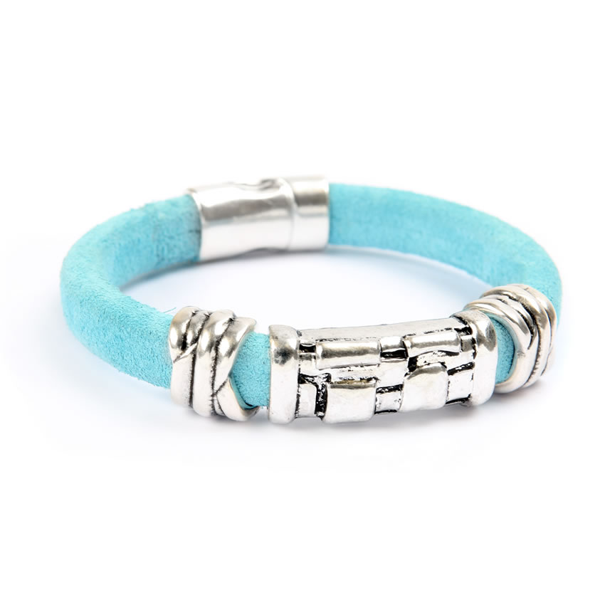 Blue Suede Regaliz Bracelet - New In