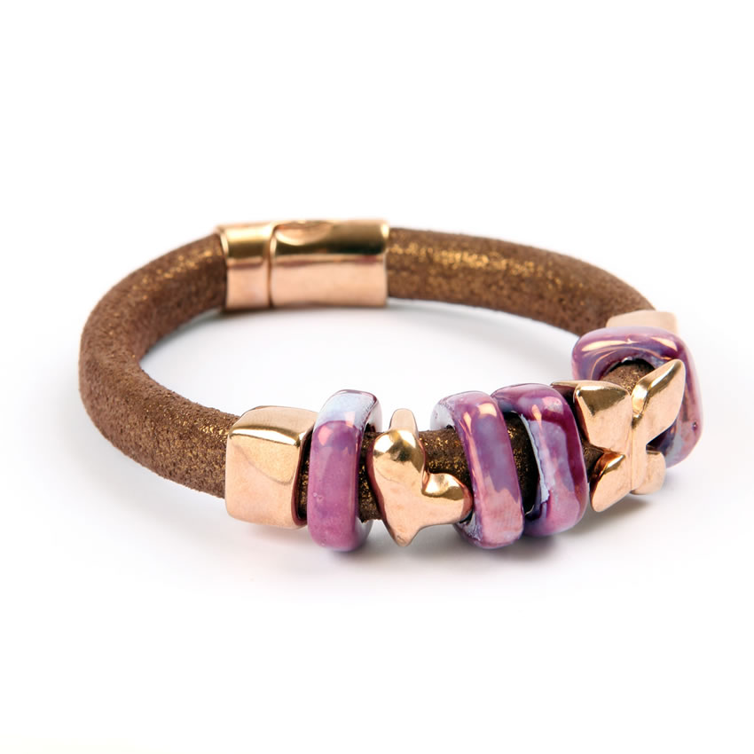 Tan Glitter Regaliz Bracelet - New In
