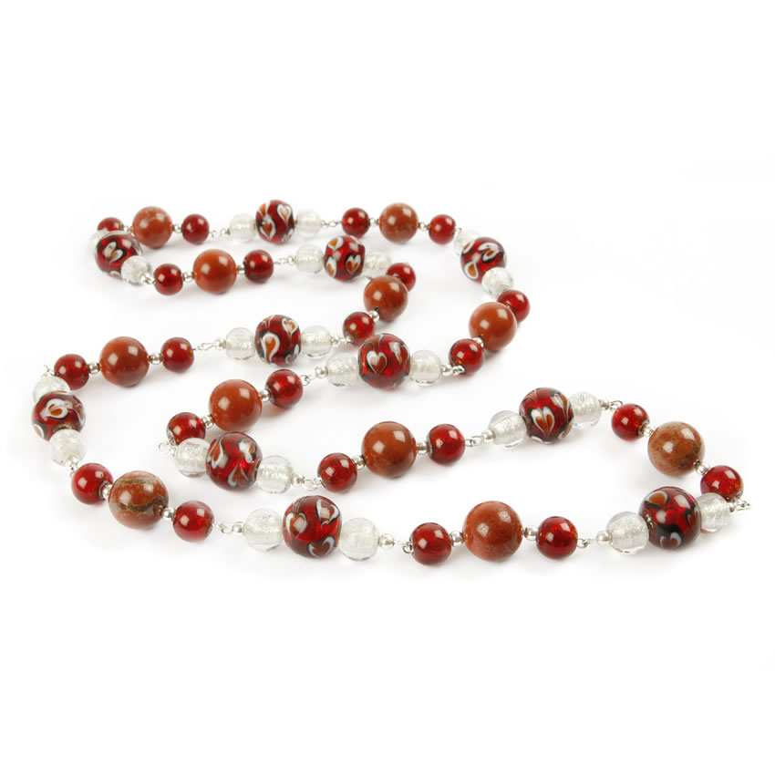 Red Glass Sale Necklace