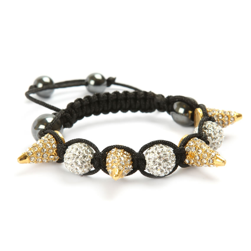 Spike Shamballa Fashion Bracelet