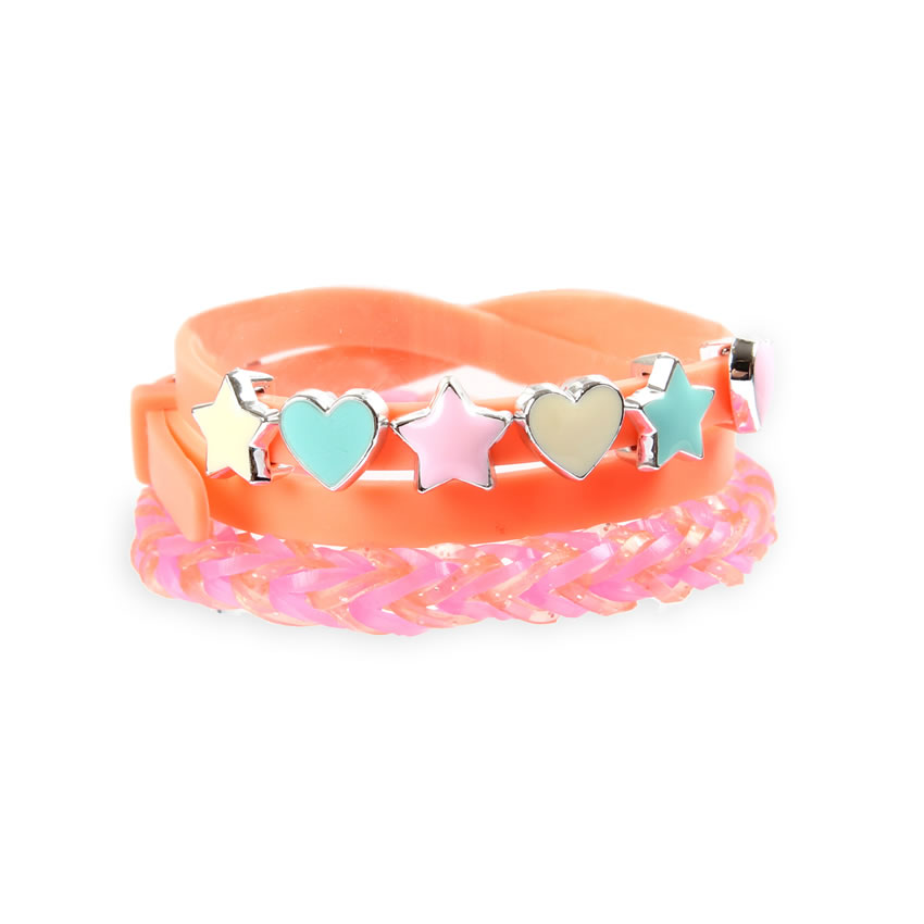 Coral 'Colour Pop' Bracelet.