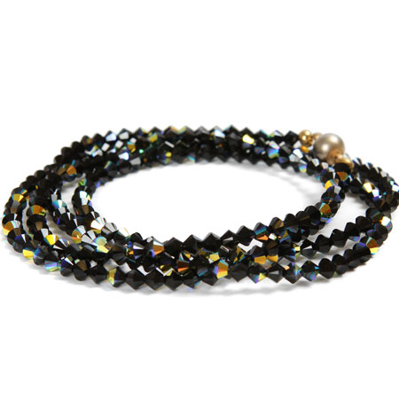 Jet Black Sparkle Necklace or Bracelet