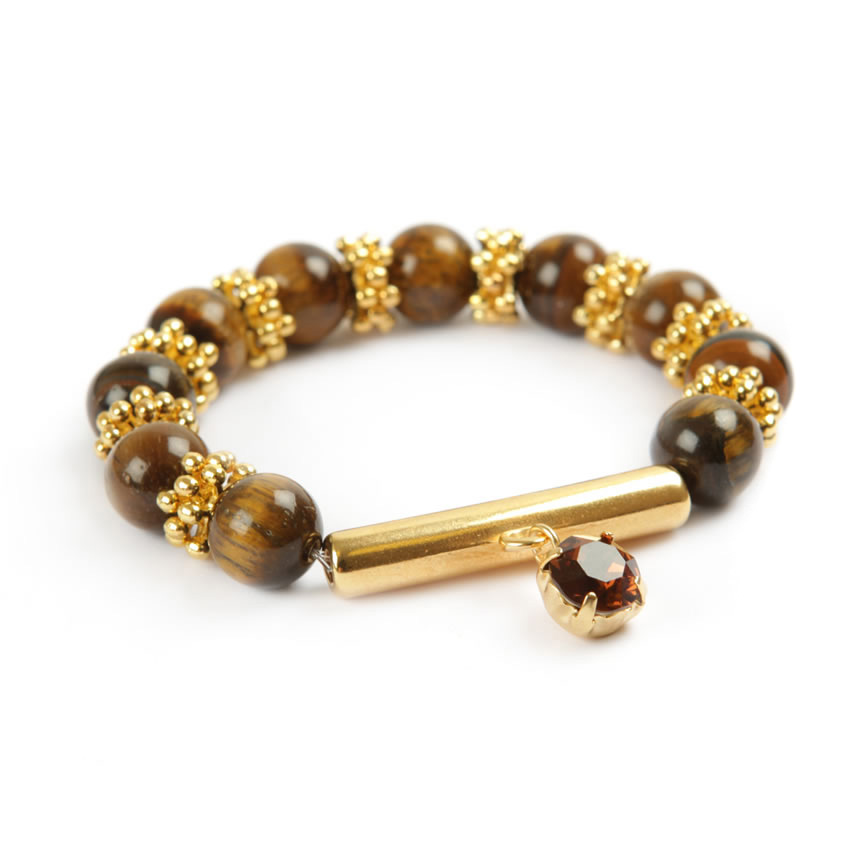 Winter Gem Tiger Eye Bracelet