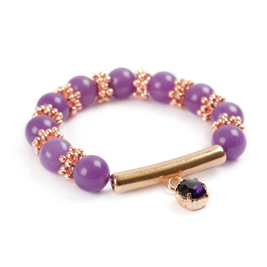Winter Gem Lavender Jade Bracelet