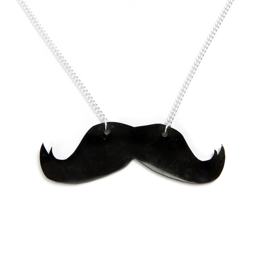 Silhouette Mustache Necklace